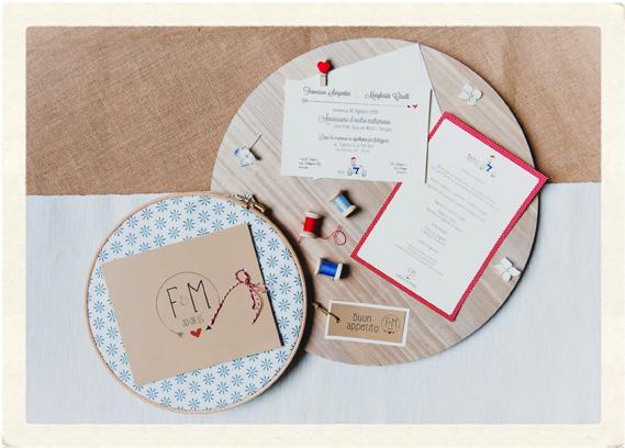Coordinato matrimoniale in rosso e celeste di Youco wedding planning Perugia