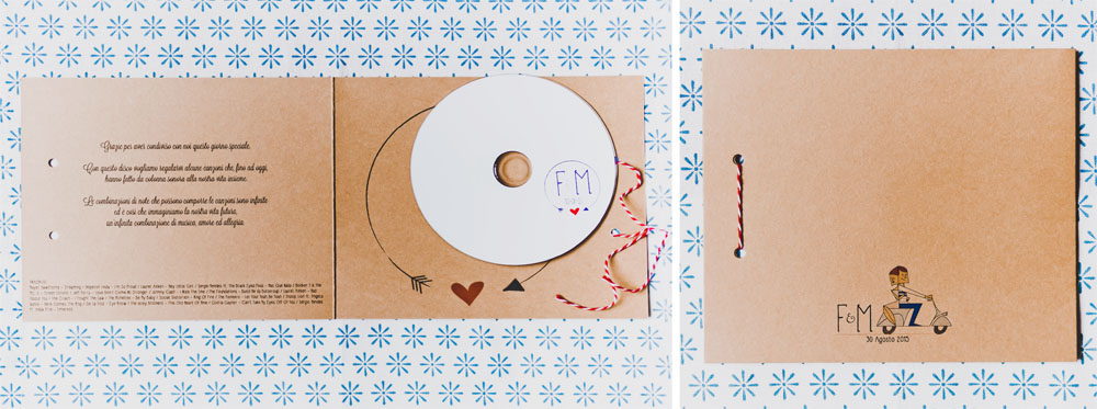 Idea bombiniera CD musicale di Youco wedding Paper_ youco weddin