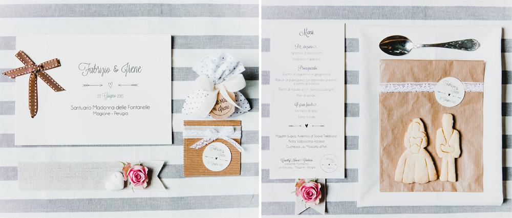 Libretto cerimonia - menu  e idee per segnaposto di Youco weddin