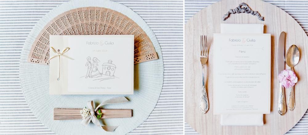 Libricino cerimonia e menu  matrimoniale in rosa pesca e verde m